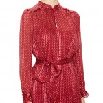 Marc Jacobs Minetta Silk Graphic Dress…