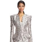 Zac Posen Floral Jacquard Skirt Suit…