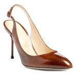 Shoe Fetish: Sergio Rossi Chichi Snake Printed Patent Leather Slingbacks…